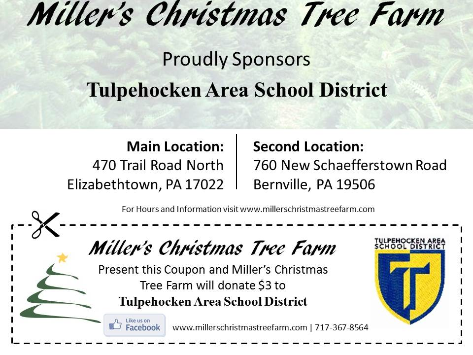 Millers Christmas Tree Farm.Community Support Coupons Miller S Christmas Tree Farm